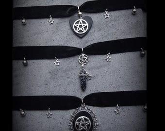 Occult neck Devil Demon Crystal Choker Ras