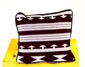 Woven Kente Pillow Cover - Scatter Cushion Cover - African Cushion - African Home Decor - Cushion Cover- Maroon Woven Kente