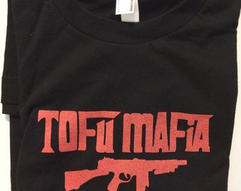 Tofu Mafia Vegan Vegetarian Animal Rights Activist T-shirt
