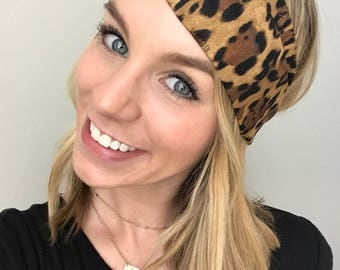 Leopard Print Turban Twist Headband