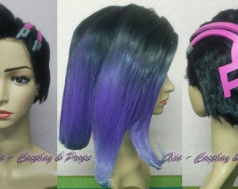 Sombra cosplay wig - Overwatch