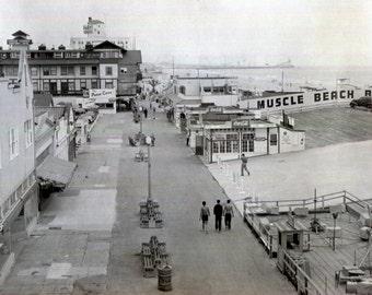 Vintage Photo..Muscle Beach Santa Monica, 1950's Original Found Photo, Vernacular Photography, American Social History Photo