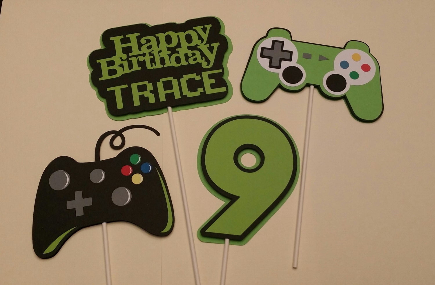 Gamer birthday party birthday party centerpiece sticks for All decoration games