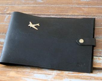 Leather Cover for Jeppesen Professional or European Pilot Log