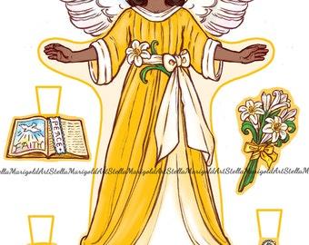 Mercy - Little Angel Paper Doll