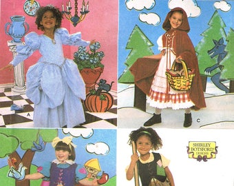 Size 3-8  Girls Fairy Tale Costumes Sewing Pattern - Little Red Riding Hood - Snow White - Cinderella - Halloween Costume - Simplicity 8356