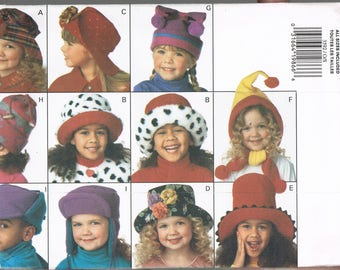 Childrens Hat Sewing Pattern - Size S-L - Fleece Hat Sewing Pattern - Touque Hat Pattern - Bucket Hat Pattern - Butterick 3592