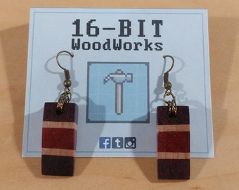 Wooden Wedge Earrings