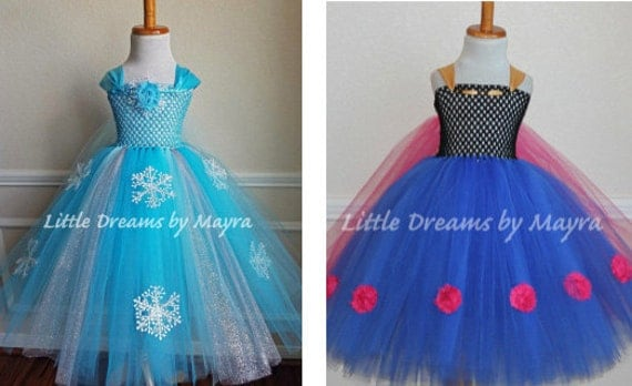 Affordable Elsa and Anna tutu dress inspired