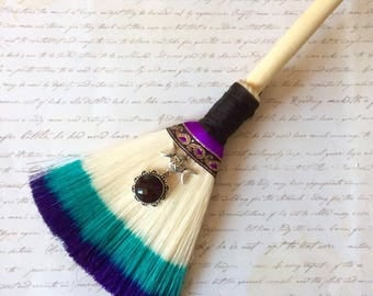 protection broom, hanging decor, wiccan broom, altar broom, witch broom decor