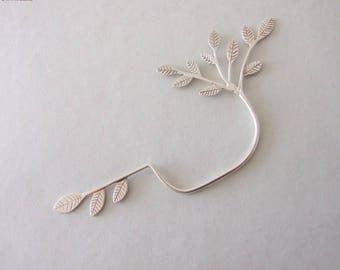 Wedding jewelry - bridal jewelry , silver ear cuff , leaves ear cuff , statement ear cuff , woodland ear cuff , wedding ear cuff , woodland