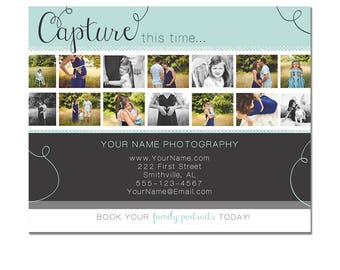 INSTANT DOWNLOAD - Modern Photography Flyer - Photography Template - Film Strip - Minis - Kids - 8x10 - Elegant - Photoshop - Elements