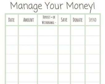 money tracker sheet