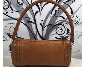 Leather purse, Brown leather bag, Michael Kors purse, Leather handbag, Women's brown purse, Stylish purse, Small purse