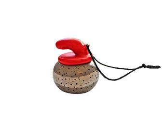 Curling Ornament - Sports Ornament - Curling Stone Ornament - Polymer Clay Ornament - Christmas Ornament - Olympic Ornament - Winter Sports