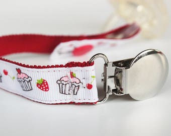 Cupcakes Pacifier clip, Soothie pacifier clip, Baby pacifier clip, Binky Clips, Baby boy pacifier, Paci Clip, soothie pacifier holder