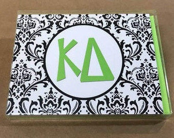 Kappa Delta Damask Notecards