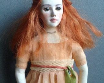 OOAK art doll Ruby