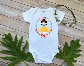 Snow White shirt, Princess Birthday, Snow White shirt, Snow White shirt, Snow White bodysuit, Princess Shirt,Princess shirt,Princess gift