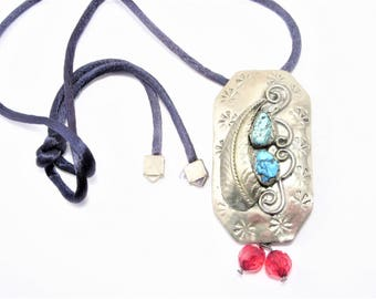 ON HOLD Vintage Recycled Concho Belt Pendant Necklace