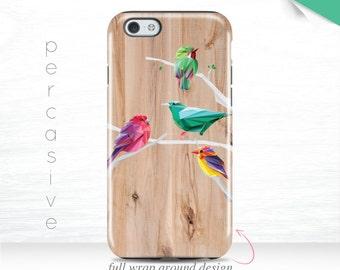 iPhone 6 Case Birds iPhone 7 Plus Case Nature iPhone 6 Plus Cover Wood Print iPhone 5s Case , 6s Case Colorful Birds iPhone 7 Case 13u