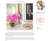 Premade Blogger Template - Simple Pastel Floral Clean Blog Design - Blog Theme - Blog Layout - Blogspot Template