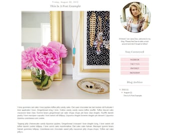 SUMMER SALE! Premade Blogger Template - Simple Pastel Floral Clean Blog Design - Blog Theme - Blog Layout - Blogspot Template