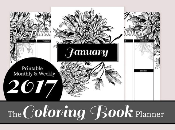 coloring book planner the coloring book planner adult coloring diy printable