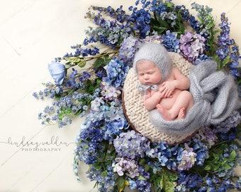 Newborn bonnet hat 16 colors / fluffy bonnet / photography prop newborn baby / bonnet hats for boys / newborn knitted baby bonnet hat mohair