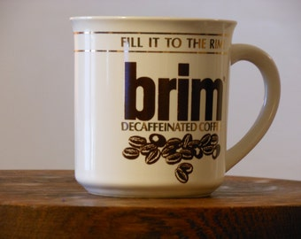 Brim: Decaffeinated Coffee. Vintage Mug.
