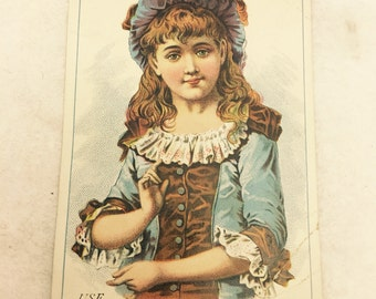 Rare Antique Ad Trade Card - Use Gowans & Stovers Pure and Healthful Soaps