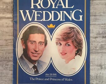 The Royal Wedding, Vintage Magazine, The Prince and Princess of Whales, July 29th 1981, Published by McLeans, Canada, Vintage Advertising