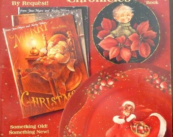 Merry Christmas  Chronicles by Shirley Wilson (1999) - Vintage Folk Art Decorative Tole Painting Book