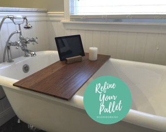 Bath Tray - Reclaimed Bamboo Bath or Serving Tray