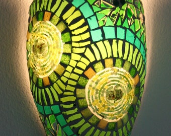 Green gemozaïekte Wall lamp