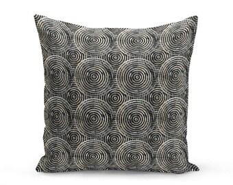 Outdoor Throw Pillow, Outdoor Pillow, Black Grey, White, Beige Decor, Outdoor Decor