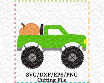 EXCLUSIVE Pumpkin Monster Truck SVG, pumpkin cut file, pumpkin truck svg, monster truck svg, pumpkin truck cut file, LIMITED commercial use