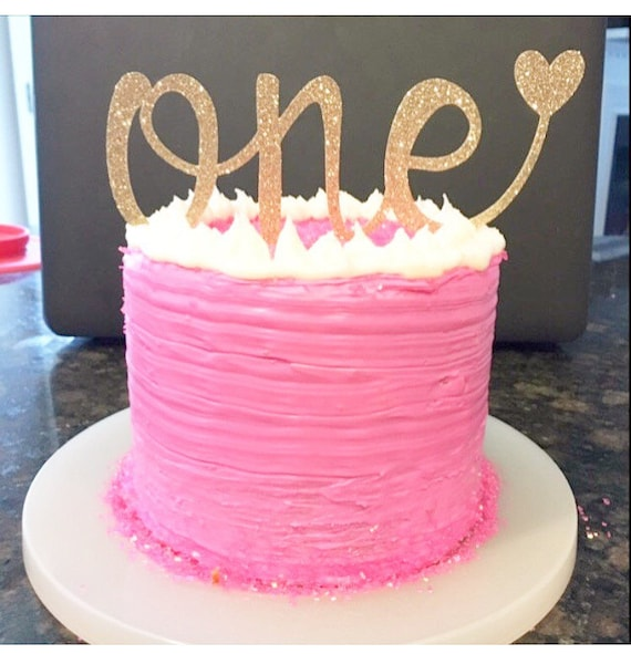 Cake Birthday Cake Cake Decorating: One Cake Topper 1st Birthday Number One By HBSouthernInspired