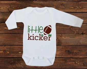 Super Bowl Baby Boy Shirt - One Piece Bodysuit - Football Little Kicker