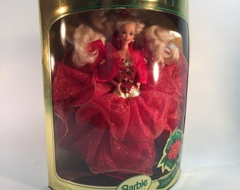 Vintage 1993 Barbie Happy Holidays, Still In Original Box