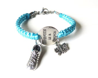 Strength is a Choice Love to Run Running Sneaker Charm Bracelet You Choose Your Cord Color(s)