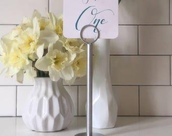 Silver Table Number Holder - Silver Menu Holder - Silver Table Number Stand - Silver Wedding Stand - Silver Wedding