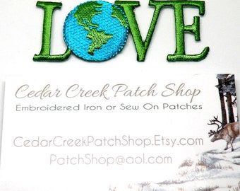 Earth Day Globe Iron on Patch Love patch Earth Patch Love Earth Day Decor Gifts Gift Ecology World Eco Friendly