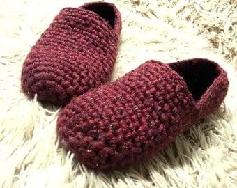 Crochet slippers for him, Crochet yarn shoes, Mens House slippers, cozy, winter, warm, men shoes, Gift for Men, Non-slip, Men Wool Slippers