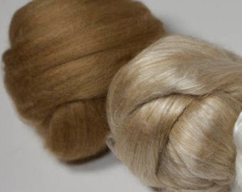 Camel Fiber, Camel and Silk Spinning Fiber, Great gift for Spinner, Camel/Silk Blend or 100% Camel