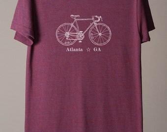 Atlanta tshirt, Atlanta Georgia tee, Atlanta GA shirt, city bike tees