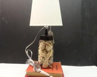 Mason Jar Lamp with Shade