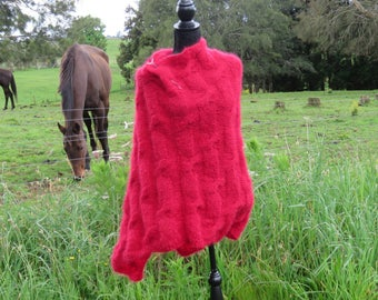 Download Now - Knitting Pattern - PDF DOWNLOAD - Poncho, One Piece, Adult ONE Size
