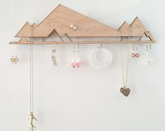 Jewellery Organizer (for Powerstrips) | Jewelry Storage | Jewelry Display | Jewellery Holder | Earring Holder | Earring rack | Necklace rack
