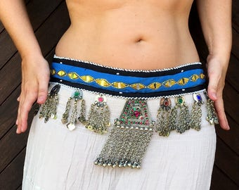 ATS, Tribal Bellydance, kuchi belt, belly dance belt, fusion gorgeous belt